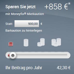 Moneyfix Mietkaution Kosten